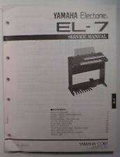 Original Yamaha Electone EL-7 SERVICE Manual