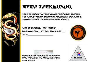 MFMA Taekwondo 1st Dan Black Belt Home Study Course.