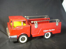 Old Vtg Structo Pressed Steel Toy Fire Depart. Truck Red Made In USA