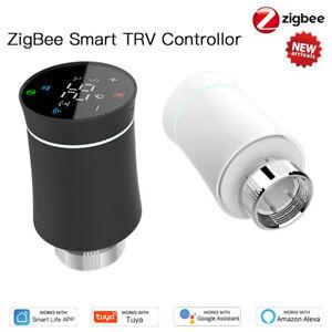Tuya ZigBee Thermostat Valve Smart Programmable TRV Temperature Alexa Controller