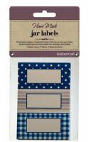 KITCHENCRAFT Pack 30 Self Adhesive Jam Jar/Bottle Labels/Stickers. Spots/Stripes