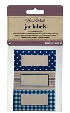 Kitchencraft Pack 30 Autoadesivo Jam Jar/bottiglie Etichette/Adesivi. spot/strisce