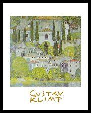 Gustav Klimt Kirche in Cassone Poster Bild Kunstdruck im Alu Rahmen 30x24cm