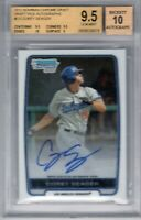 """2012 Bowman Chrome Draft Auto. """"Corey Seager"""" RC """"On Fire"""" @LOOK@ BGS 9.5 {1st}"""