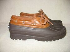 SPERRY TOP-SIDER Women's LACE-UP SIGNATURE LOW RAIN DUCK WATER SHOES Sz 9.5M