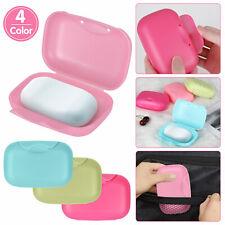 4 Pcs Soap Dispenser Dish Case Holder Container Box Shower Bathroom Travel Carry