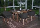 6x chaise de salle à manger Malmö T633, fauteuil, rétro ~ tissu, gris