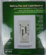 Hunter Dual Slide 3-Speed Ceiling Fan/Light Dimmer Control 27182