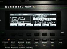 Kurzweil K2000 K2000R K2VX K2000VP K2000VPR LED DISPLAY !