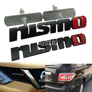Black Metal Nismo Grill Emblem+Fender Trunk Sport Badge Sticker for Nissan JDM