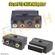 SCART TO RCA ADAPTOR FEMALE PHONO AV AUDIO 3 RCA S VIDEO INPUT OUTPUT SELECTOR