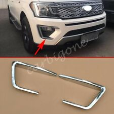 Chrome Front Fog Light Cover Lamp Trim For Ford Expedition 2018-2020 Accessories