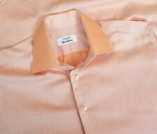 Fray Men's Long Sleeved Dress Shirt 15.5-36 Peach MOP Buttons