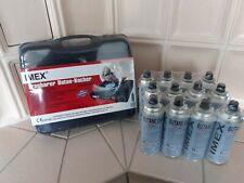 IMEX tragbarer Butan Kocher Gaskocher MIT-NS1 mit 4,8,12 Gaskartuschen Camping