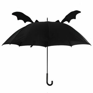 Black Gothic Bat Wings Batty Umbrella Brolly
