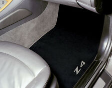 Genuine BMW Z4 Embroidered Black Floor Mats, 2009 - 2012; 82112157092