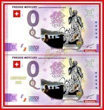 Lot Souvenir 0 euro Freddie Mercury Montreux 2021 Queen Anniversary Couleurs