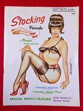 Vtg Stocking Parade Magazine #1 1965 Gene Bilbrew Heels Nylons Girlie Pinups