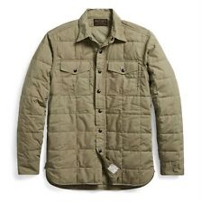 $395 RRL Ralph Lauren Vintage Military Inspired Quilted Cotton Shirt Jacket-- M