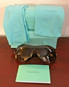TIFFANY & CO TF 3015 6002/13 115 3N BROWN GOLD SUNGLASSES. ITALY.GREAT CONDITION