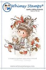 """Stempel """"Oak Tree Girl"""" Whimsy Stamps, Mädchen mit Eichenlaub, Herbst"""