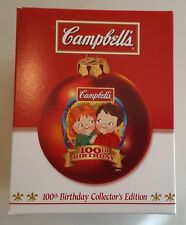 Campbells Soup 2004 CAMPBELL KIDS 100th Birthday Christmas Ball Ornament