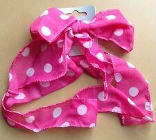 Bonito Rosa con topos Bufanda / Corbata en la / DIADEMA