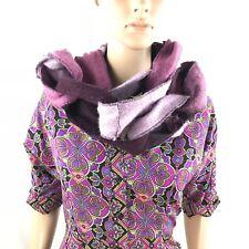 Womens Girls Platania Purple Loop Wool Scarf Wrap Hoodie Cowl Unique