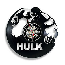 Avengers Hulk Vinyl Record Clock Wall Decor Home Design Handmade Vintage