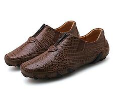Men Faux Alligator Leather Slip On Casual Loafers Round Toe Dress Business Shoes