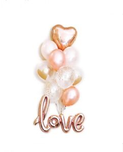 Love Balloons Engagement Party Decorations Bridal Shower Proposal Rose Gold