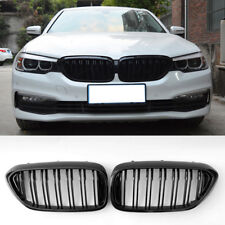 BMW 5 series G30 G31 gloss black front kidney grilles grills double spoke 2017-
