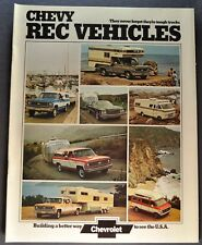 1974 Chevrolet Recreation Truck Brochure Pickup Van Suburban RV Motor Home