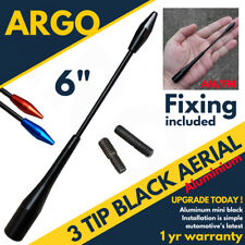 Black Car Aerial Bee Sting Mast Antenna Ariel Arial Radio Blue Red AM FM Roof
