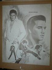 Elvis Presley Sketch 17 X 20.5 Initialed By Artist