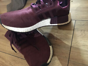 Women Suede Adidas NMD Size Uk 4.5 Burgundy Great Condition