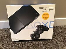 Play station 2 slim console system Charcoal Black NIB playstation 2 PS2 Sealed