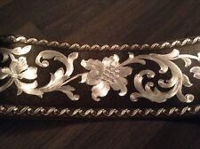wunderschöne Barock Bordüre ROSE Limoneng,Silber 5m lang 17,7 cm breit
