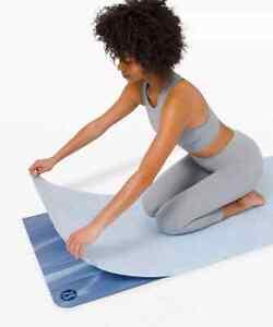 NWT Lululemon Blue Linen The One Size Polyester Yoga Towel