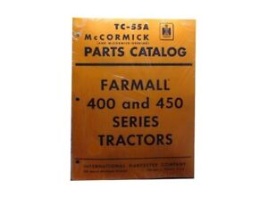 Farmall International 400 450 Parts Catalog McCORMICK