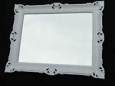 Miroir mural 90x70 BAROQUE rectangulaire ancien 1111 blanc de sale bain 1