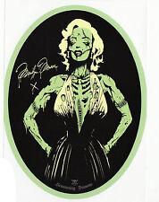 Zombie Marilyn 50s Pin-up Icon Vintage Rockabilly Horror Vinyl Oval Sticker A6