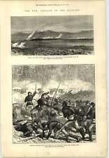 1877 Balkan War Russian Infantry Yeni Zara Engraving