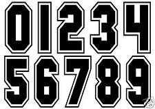RACE NUMBER STICKERS, YOUR CHOICE, PIC'N'MIX. CAR DECALS
