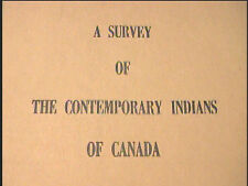 2 Vols 1966 A Survey of the Contemporary Indians of Canada Hawthorn - Tremblay