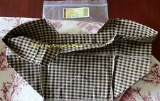 Longaberger Picnic Tote Basket Liner Khaki Check Over Edge Brand New In Package