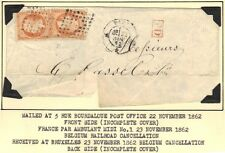 FRANCE 1860-1863 FOUR CLASSIC COVERS FRANKED NAPOLEON ISSUES 20, 40 & 80 Cts.
