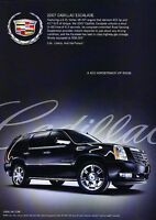 2007 Cadillac Escalade - Room - Classic Vintage Advertisement Ad D90