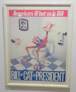 Bill The Cat - Bekley Breathed Bloom County Vintage poster Limt. 114/200 signed