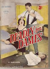 Deadly for Dames Australian pulp detective mystery action comics Redback 352